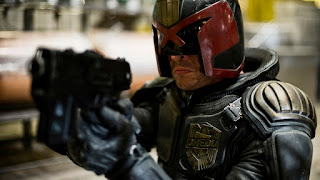 Karl Urban as Judge Dredd in the 2012 3D film 'Dredd'