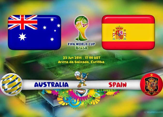 أهداف مباراة اسبانيا واستراليا اليوم 23/6/2014 كاس العالم بالبرازيل