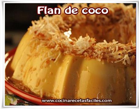 Postres y helados , receta de flan de coco