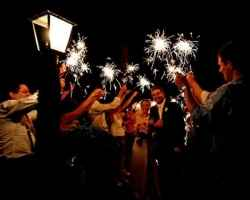 Wedding Sparkler Sendoff Line