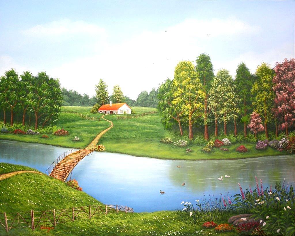 Compartiendo fondos hermosos paisajes con casas de campo - Paisajes de casas de campo ...