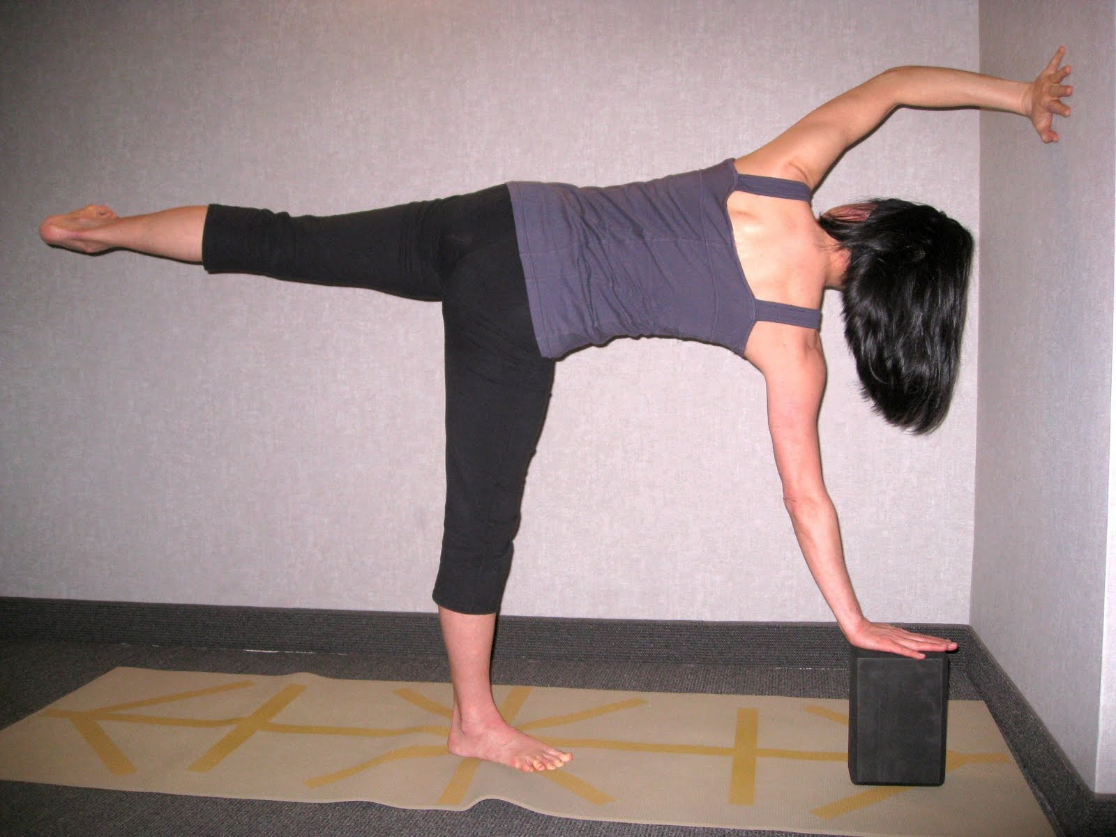 Hold each step for a few breaths to fine tune the position  Activate    Ardha Chandrasana Variations