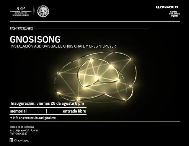 """Instalación audiovisual """"Gnosisong"""" en el Centro de Cultura Digital"""