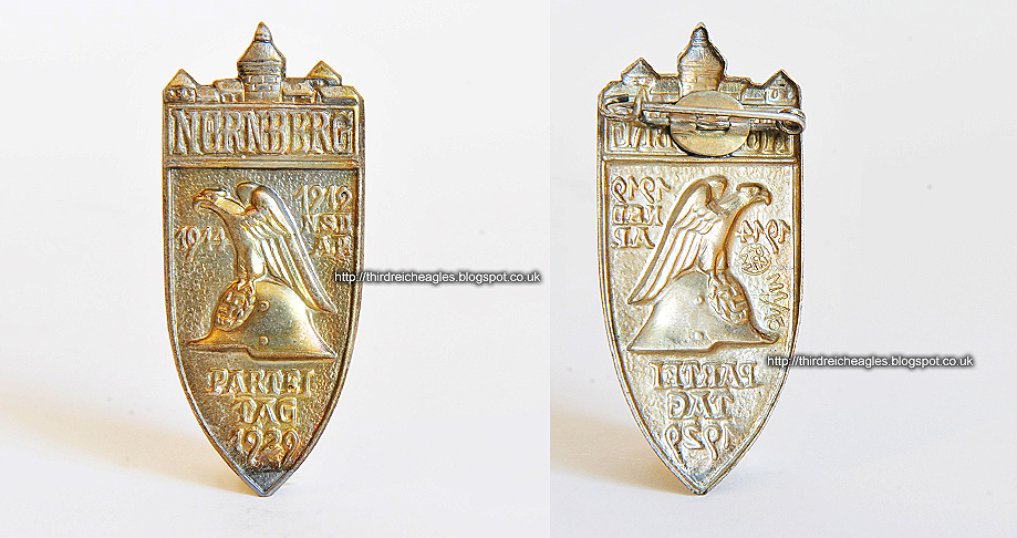 Nuremberg Party Day Nürnberg 1929 Party Day Badge