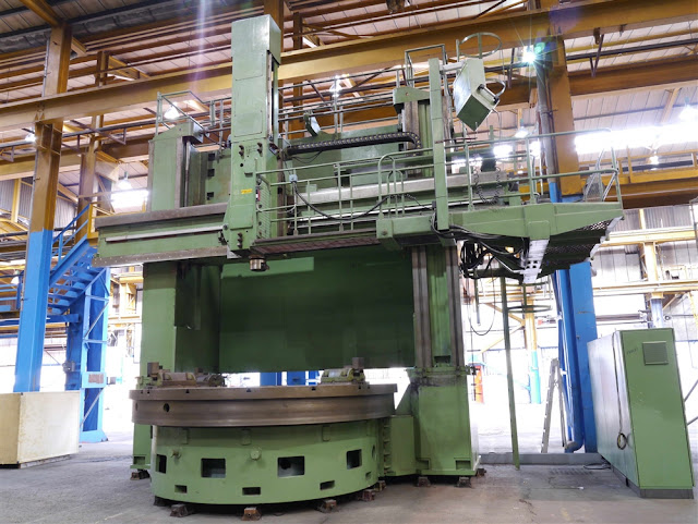 SCHIESS 3500MM 2 AXIS CNC DOUBLE COLUMN VERTICAL BORER