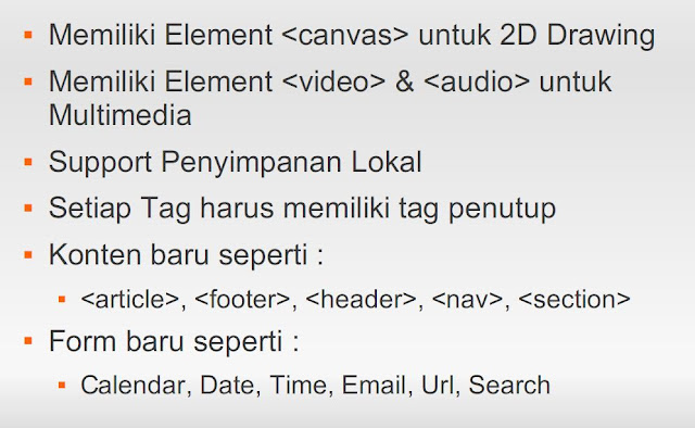 Fitur HTML 5