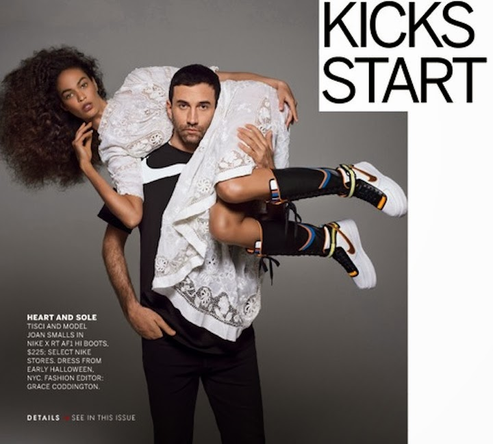 Nike x Riccardo Tisci x Joan Smalls, US Vogue Feb 2014