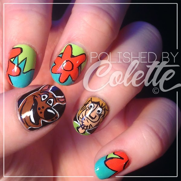 Scooby Doo Cartoon Nail Art Polished By Colette