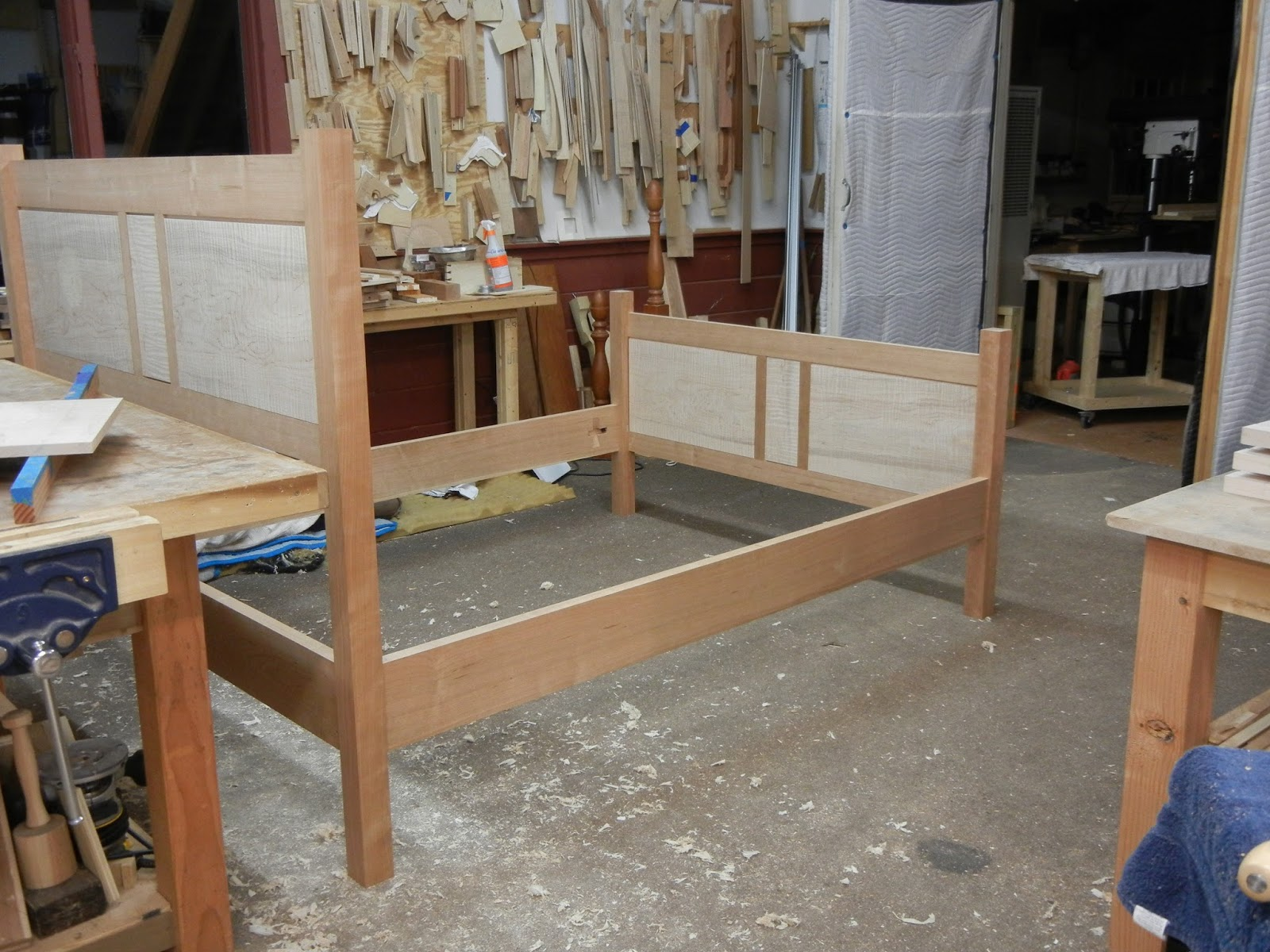 frame and panel bed in process