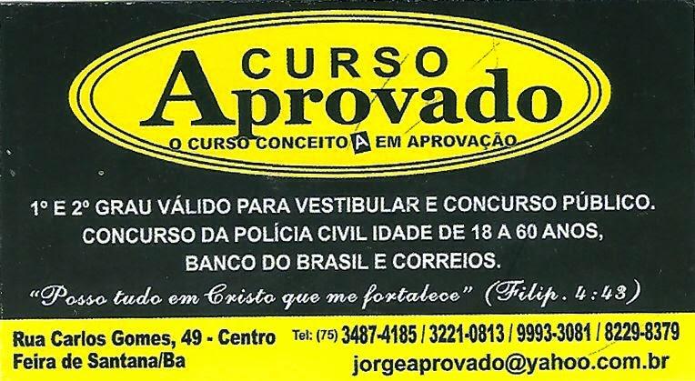 CURSO  APROVADO