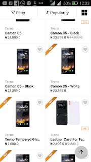 Tecno Camon C5 price in Nigeria
