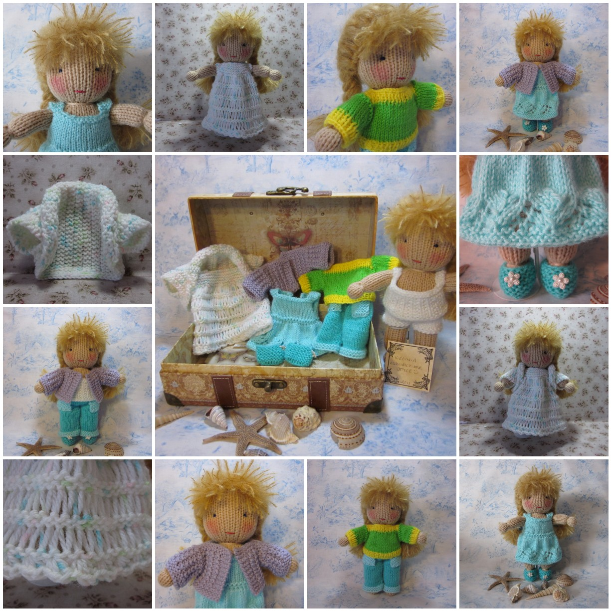Crochet Knit Stitch Waldorf : By Hook, By Hand: Virginia, a knit Waldorf style doll