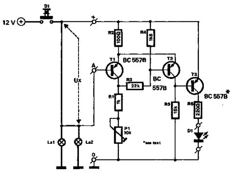 car brake lights monitor circuit circuits projects car s brake lights monitor circuit diagram