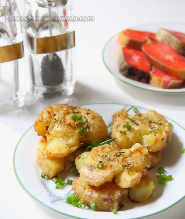 Картофель, запеченный с тимьяном и чесноком