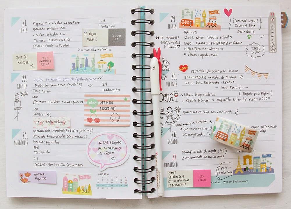 Little hannah cinco consejos para planificarte bien y decorar tu agenda - Como decorar una agenda ...