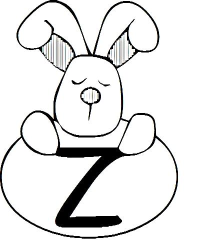 a desenhar letras do alfabeto letra Z colorir