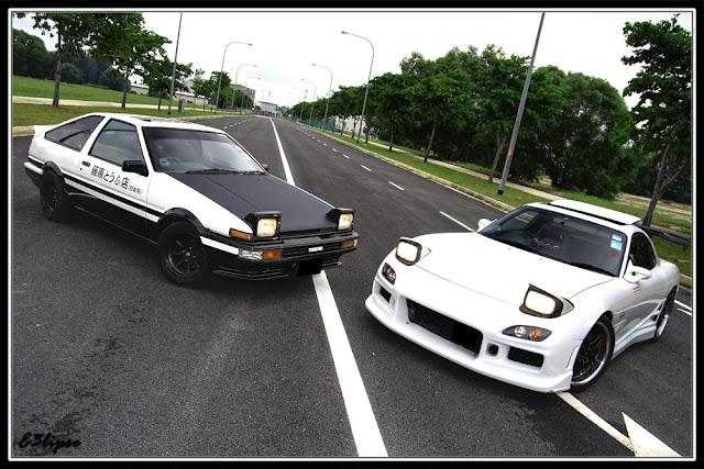 Toyota Sprinter Trueno AE86 & Mazda RX-7 FD, hahiroku, kultowy, legenda, japońskie sportowe coupe, wankel, rotary