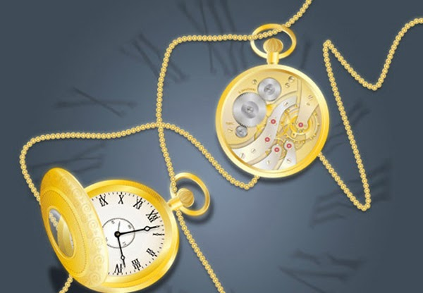 Draw a Glowing, Vector Pocket Watch