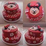 Minnie Mouse taart. Een Minnie Mouse taart