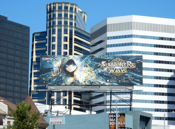 Summoners War gaming app billboard