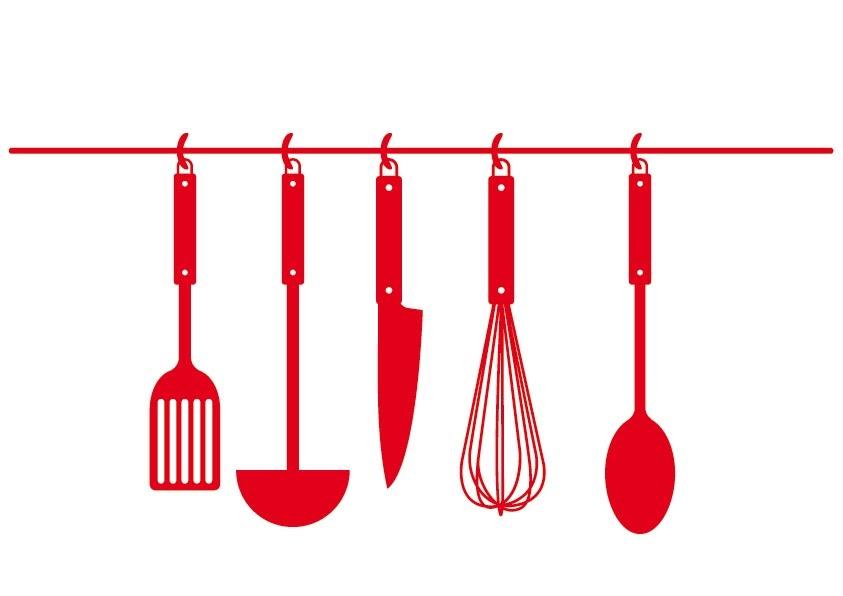 Molinete vinilos decorativos cocina varios elementos for Elemento de cocina negro