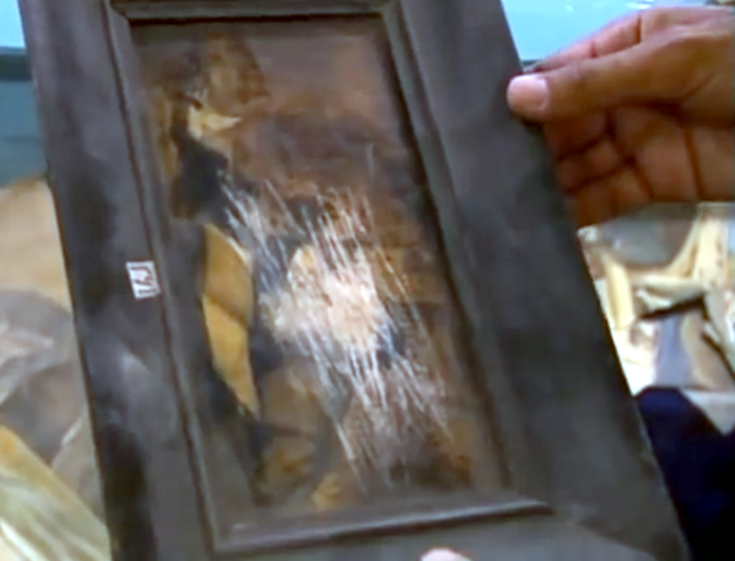 Artworks Damaged Destroyed by Islamic Totalitarians extremists Taliban Khair Mohammed Khan Yari