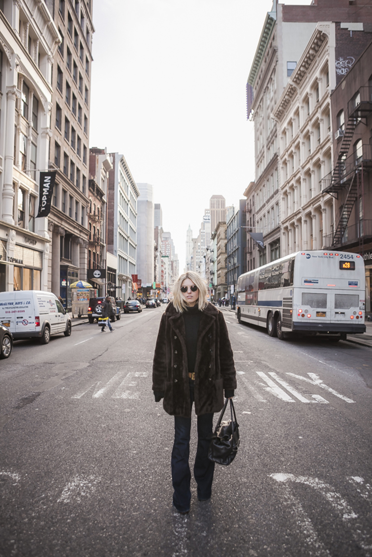Middle of Broadway in SoHo, Fashion Over Reason, Helene Heath, J Brand Jeans