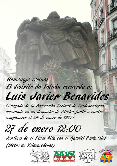 27 enero Homenaje L Javier Benavides en Tetuán