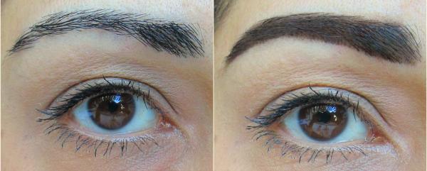 Anwendung, Vorher - Nachher. Couleur Caramel Eyebrow Kit Perfect Eyes - für 29.50 Euro