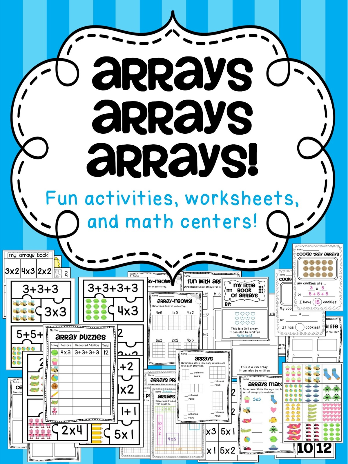 Miss Giraffes Class How to Teach Arrays – Multiplication Array Worksheet