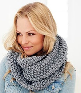 Beginners Snood Knitting Pattern