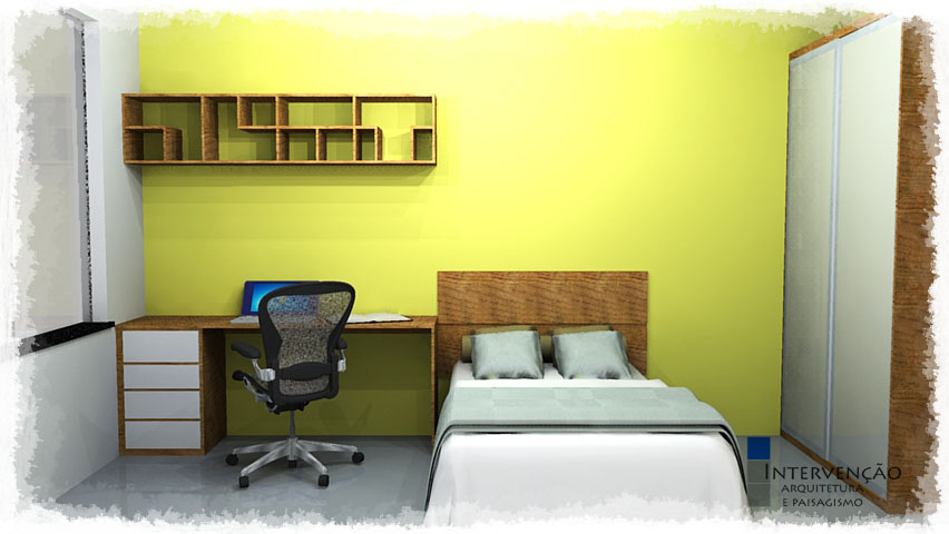 Interven o arquitetura e paisagismo proj de for Mobiliario de dormitorio