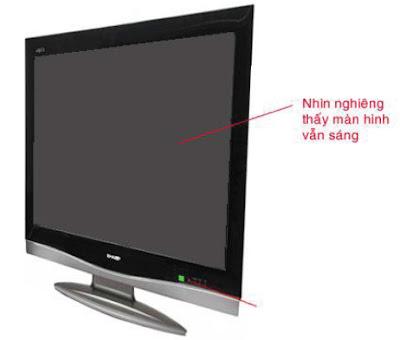 Hình 40 - Hiện tượng khi hỏng mạch Video Scaler màn ảnh tối đen nhưng nhìn nghiêng vẫn thấy có ánh sáng backlight.