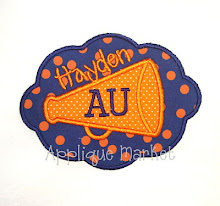 Scalloped Patch Cheer Megaphone