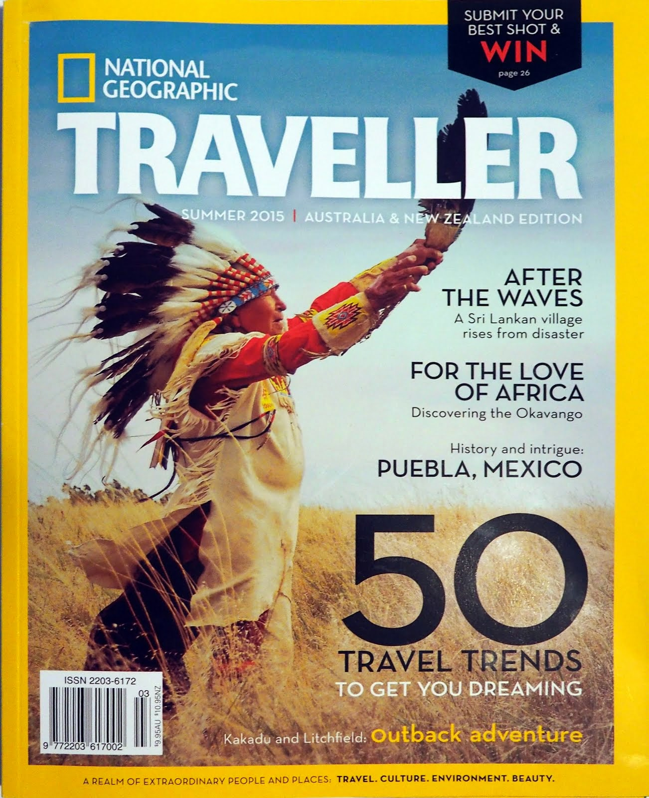 Summer 2015 issue National Geographic Traveller Australia/New Zealand cover