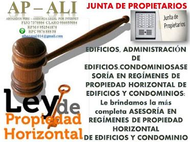 JUNTA DE PROPIETARIOS, ASESORÍA LEGAL PARA PROPIETARIOS DE DEPARTAMENTOS EN EDIFICIOS Y CONDOMINIOS