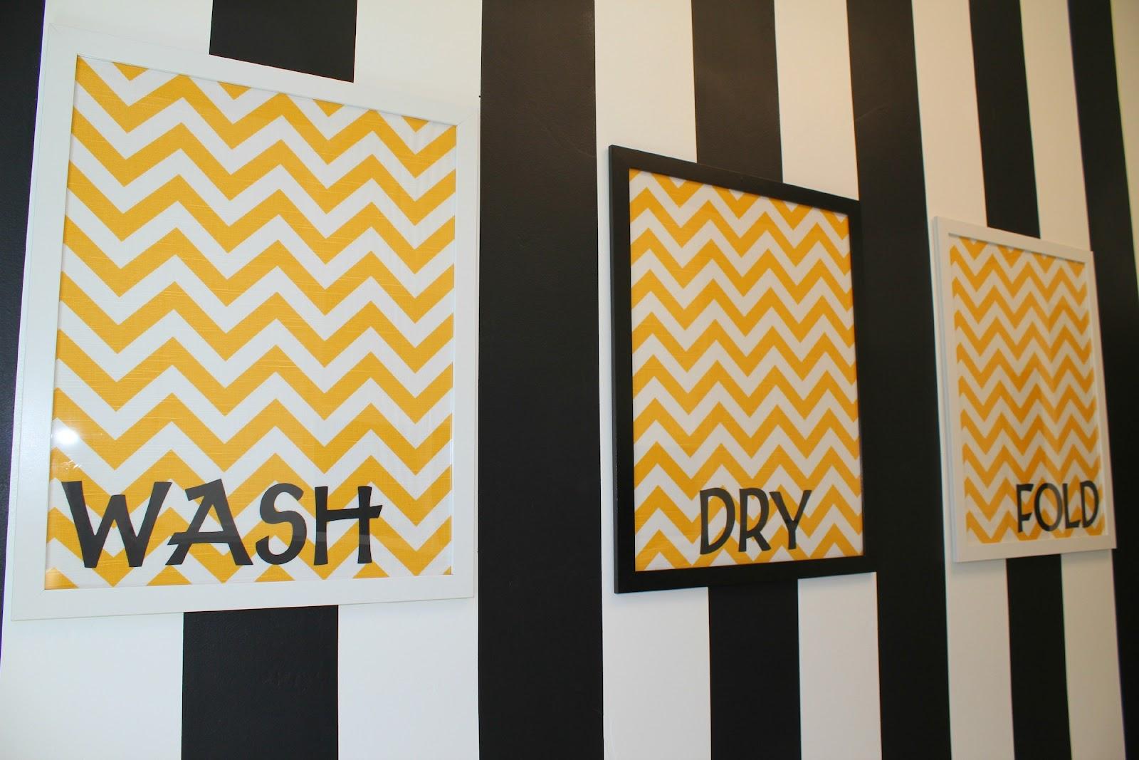 Wood and Cloth: Cloth - Easy Chevron Laundry Wall Art
