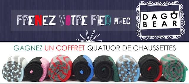 Jeu Dagobear et Mademoiselle Bons Plans: 1 Coffret Quatuor de chaussettes tendances à gagner