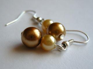 biżuteria z półfabrykatów - złote preły (kolczyki)