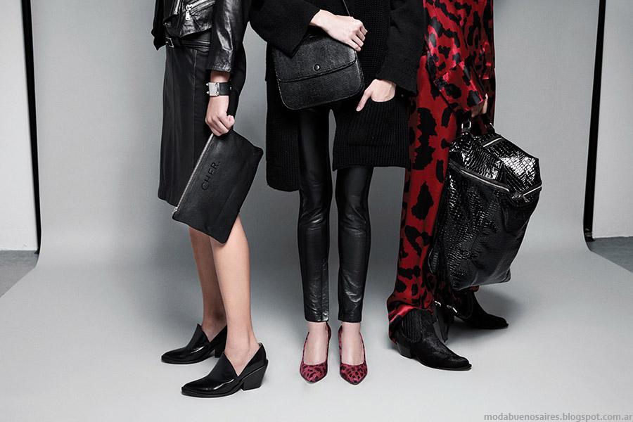 Coleccion otoño invierno 2015 carteras y zapatos María Cher. Moda otoño invierno 2015 carteras y zapatos.