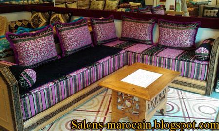 canap fauteuil pour les salons marocain moderne 2013 f5 f6 - Salon Marocain Moderne Mauve
