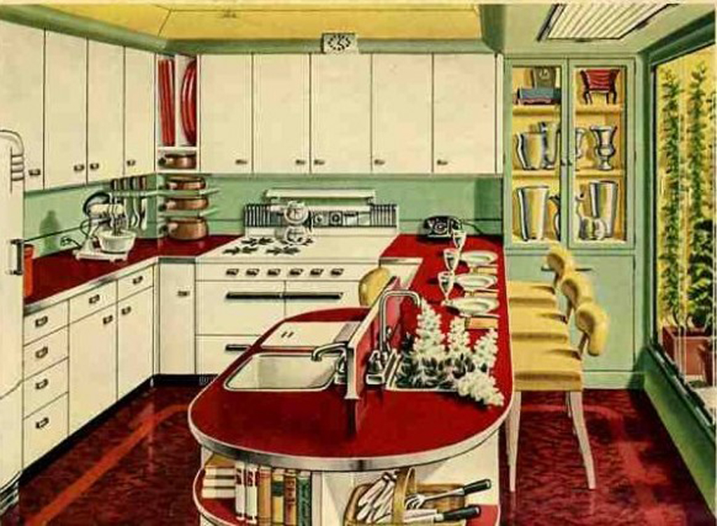 Vintage daub vintage furniture part 1 the vintage for Small retro kitchen