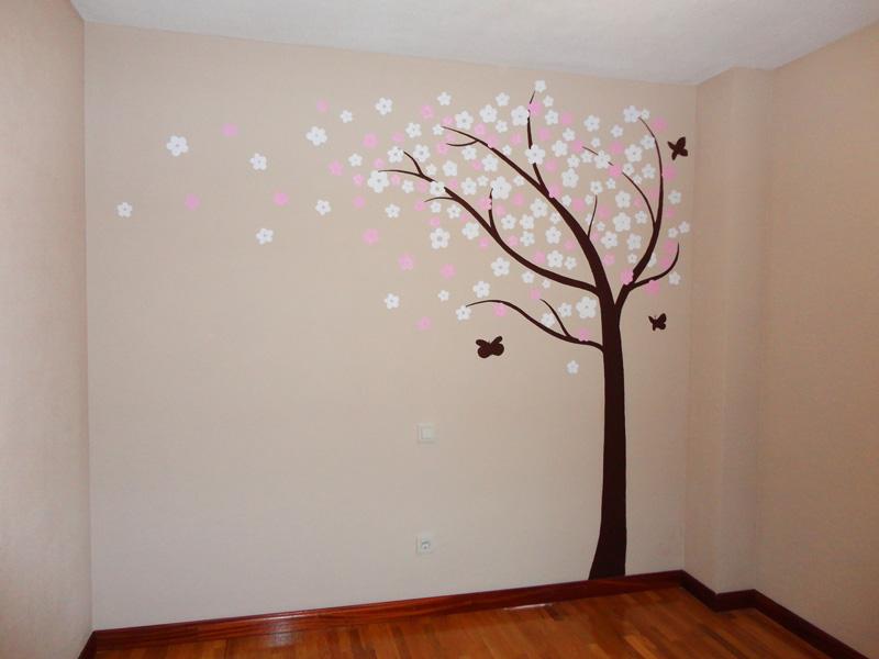 Decopared mural rbol 250 habitaci n de beb for Murales pintados en paredes de habitaciones