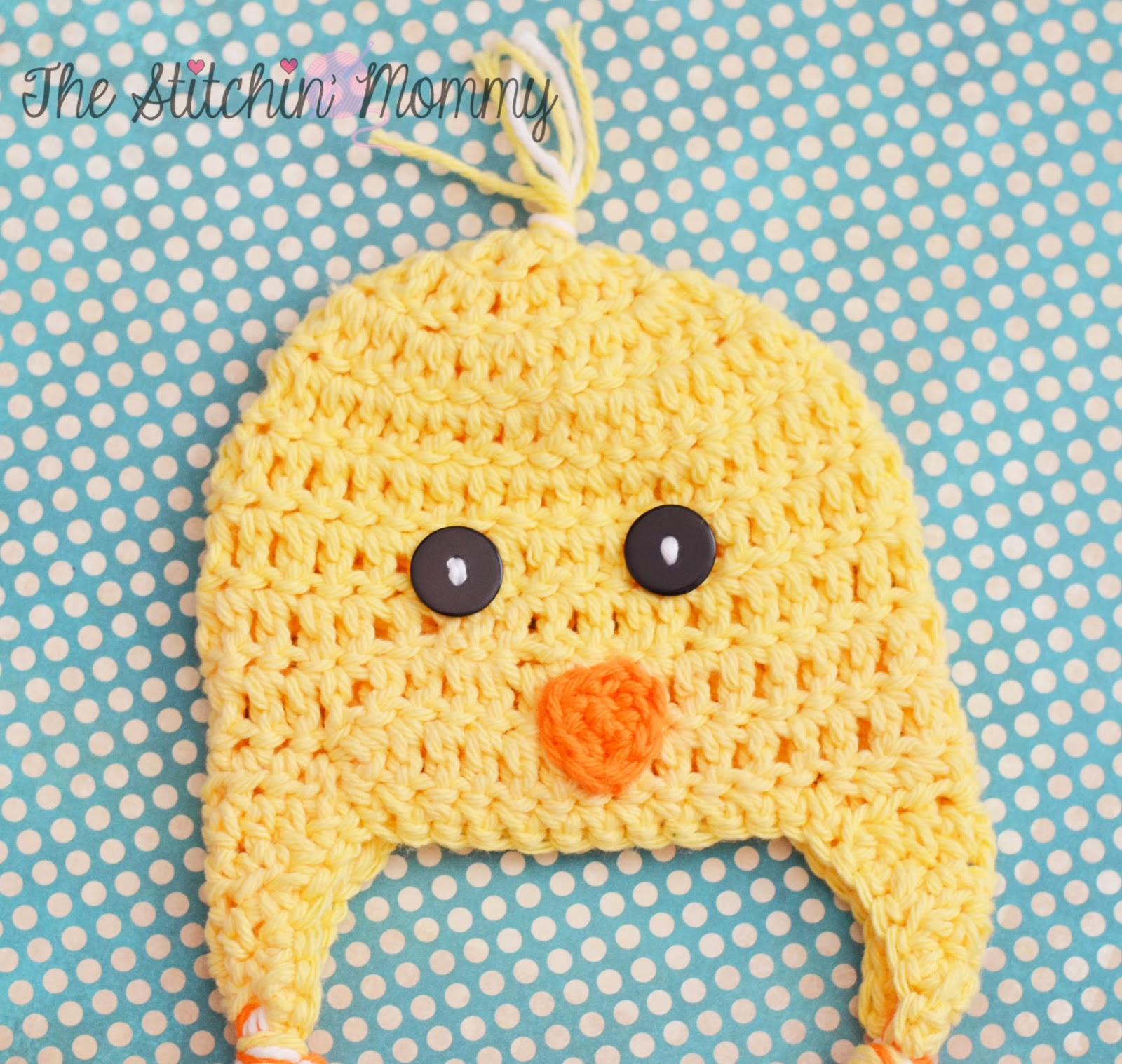 Spring Chick Hat - Free Crochet Pattern by The Stitchin' Mommy www.thestitchinmommy.com