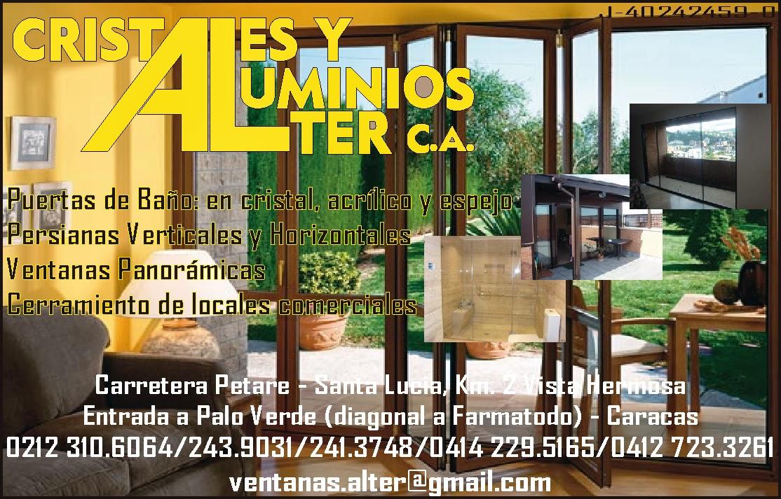 CRISTALES Y ALUMINIOS ALTER C.A. en Paginas Amarillas tu guia Comercial