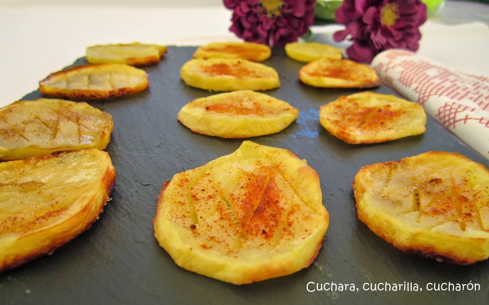 Cuchara cucharilla cuchar n patatas al horno de guarnici n - Patatas pequenas al horno ...