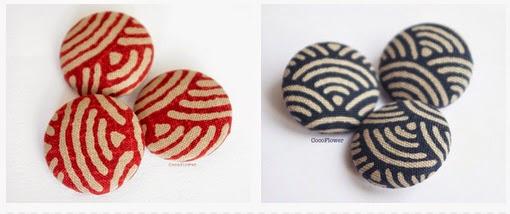 Boutons en tissu japonais gros bouton recouvert - www.cocoflower.net