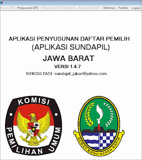 Aplikasi Penyusunan Daftar Pemilih (SUNDAPIL)  Jawa Barat Versi 1.4.7