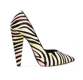 Steve Madden Chunky Heel Zebra Print Pumps