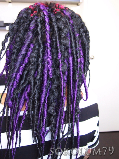 Synthetic dreads dreadlocks extensions